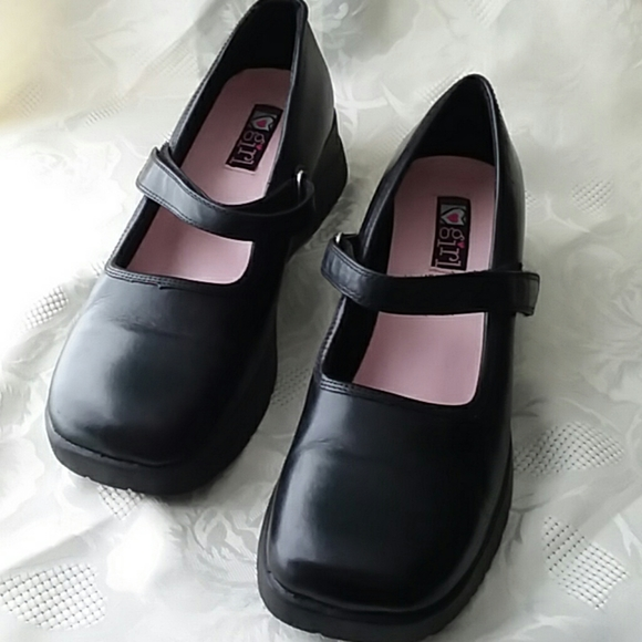 Surprize by Stride Rite Toddler Girls Black Mary Janes Shoes Size 7